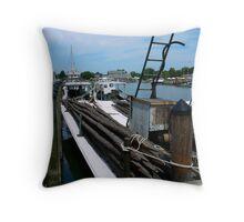 Harbor Life at Knapp's Narrows Throw Pillow