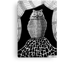 257 - THE OWL - DAVE EDWARDS - INK - 2015 Canvas Print
