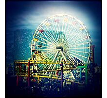 Water Debris + Santa Monica Pier  Photographic Print