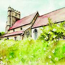 Old English Country Church by morgansartworld