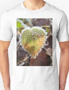 Colorful heartshaped leaf with frost T-Shirt