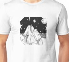 Inky Moonlit Mountains Unisex T-Shirt