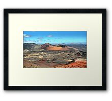 Volcanic scenery - Timanfaya National Park, Lanzarote Framed Print