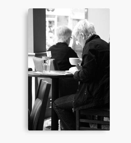 A Coffee and a Read Canvas Print