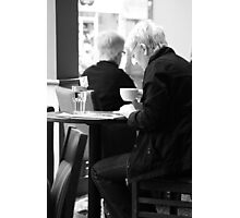 A Coffee and a Read Photographic Print