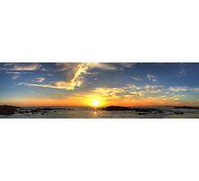 Birubi Beach Sunset Panorama Photographic Print