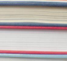 Red stripe books photograph Sticker