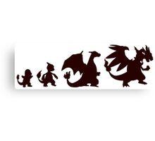 Pokemon Charmander evolution Charizard Canvas Print