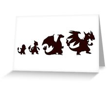 Pokemon Charmander evolution Charizard Greeting Card