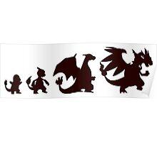 Pokemon Charmander evolution Charizard Poster