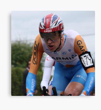 British TT Champion 2009 - Bradley Wiggins Canvas Print