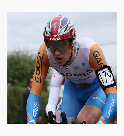 British TT Champion 2009 - Bradley Wiggins Photographic Print