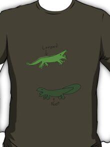 Leezard vs Noot comparrison T-Shirt