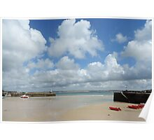 Cornwall - Low tide at St Ives Poster