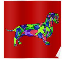 Cubist dog Poster