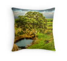 Gum Tree on the Bremer River Throw Pillow