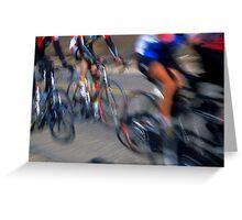 Cyclists - Redlands, California Greeting Card
