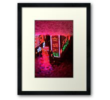 Neon Puddle - Busan, South Korea Framed Print