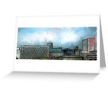 Brush Stroke City Landscape Greeting Card