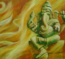 Ganesha's Rising Golden Light by YinspirationArt