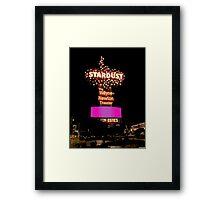 Stardust Las Vegas Vector Graphic #7 Framed Print