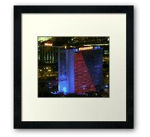 Stardust Las Vegas Vector Graphic #12 Framed Print