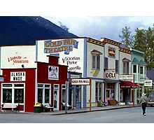 Alaska Landscape, Skagway Gold Rush Town Photographic Print