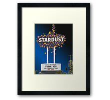 Stardust Las Vegas Vector Graphic #14 Framed Print