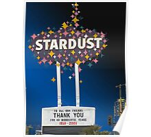 Stardust Las Vegas Vector Graphic #14 Poster