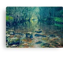 The Mysterious River Lyvennet Canvas Print