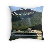 Alaska Landscape, Glacier Bay National Park Throw Pillow