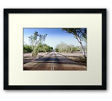 The Road to back of Beyond Framed Print