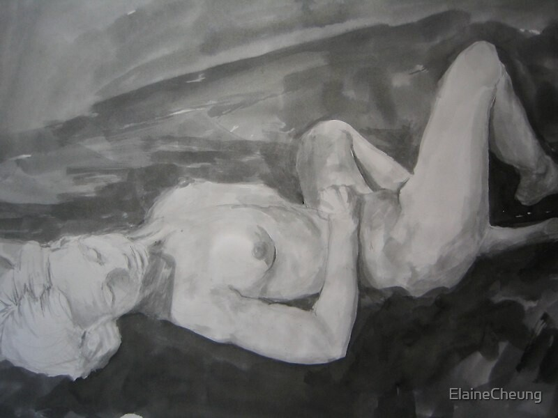 life drawing in ink by ElaineCheung