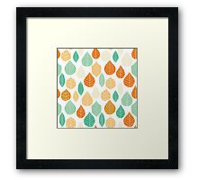 Colorful Stayed Fall Leafs Pattern Framed Print