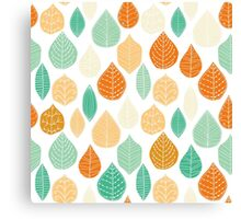 Colorful Stayed Fall Leafs Pattern Canvas Print