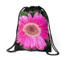 Pink Gerbera II Drawstring Bag