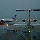Take Off  at Paris CDG raining... by BaZZuKa