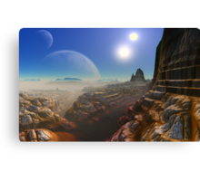 Canyon's of UUrrian Canvas Print