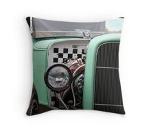 Green Rat Envy Throw Pillow
