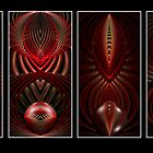 Art Deco Mural-Dark Red by plunder