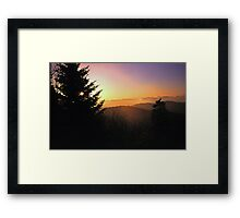 SUNRISE,CLINGMANS DOME Framed Print