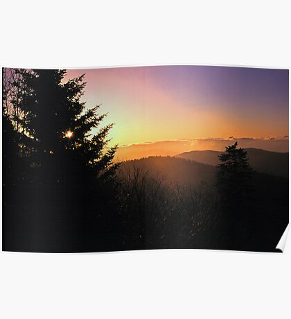 SUNRISE,CLINGMANS DOME Poster
