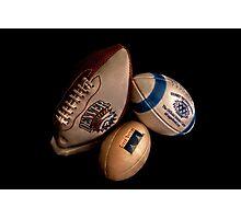 American Footballs Photographic Print