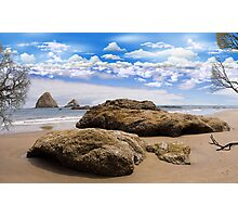 1299-This Beach Rocks Photographic Print