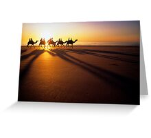 Broome camel train. Greeting Card