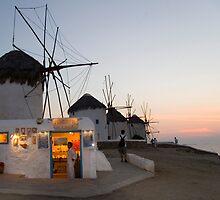 Mykonos Windmills by InterfaceImages