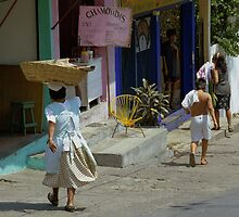 Landscape Accapulco Mexico People by Peter  Downing
