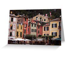 Piazza Di Portofino Greeting Card