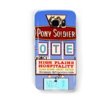 Pony Soldier Motel Sign, Route 66 Samsung Galaxy Case/Skin