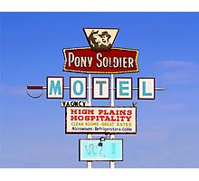 Pony Soldier Motel Sign, Route 66 Photographic Print